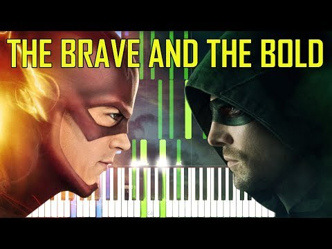 The Brave And The Bold - Flash Vs Arrow [Synthesia Piano Cover]