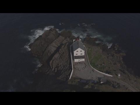 Måløy, Vågsøy, Kråkenes Fyr - Flying Over Norway