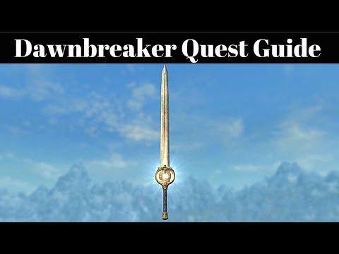 Skyrim - How To Get Dawnbreaker - Break Of Dawn Daedric Weapon Quest Guide