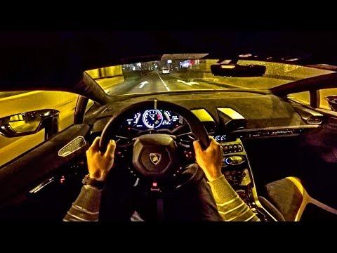 LAMBORGHINI Huracan Performante NIGHT DRIVE POV by AutoTopNL