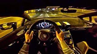LAMBORGHINI Huracan Performante NIGHT DRIVE POV by AutoTopNL Subscr...