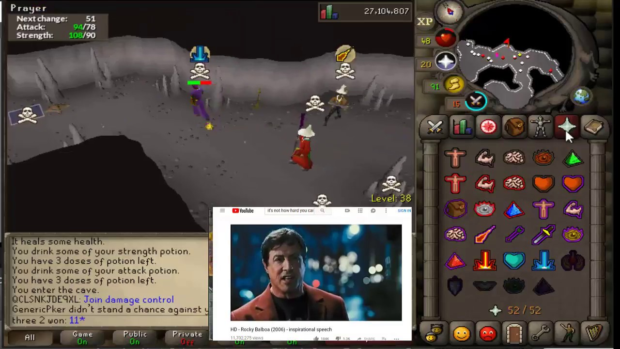OSRS Revs PK Vid #3 - Two Pures Multi Pking by CD Wins Again