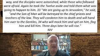 Lesson 66  Mark 10:32-34  September 10, 2020