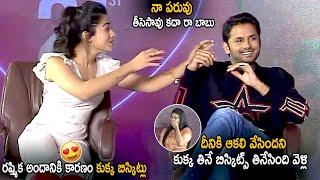 Hero Nithin Reveals Rashmika Mandanna Diet Secret | Bheeshma Valentines Day Special Interview | LATV