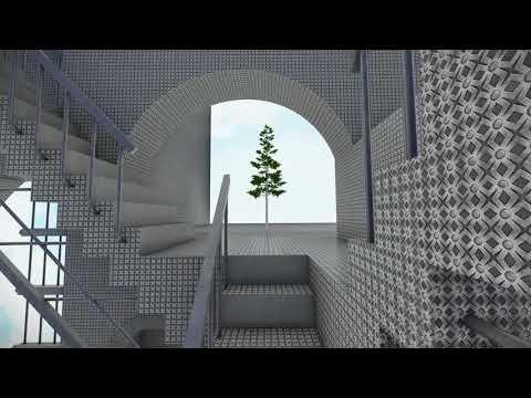 MC Escher's Relativity inside a metal cube
