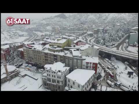 Trabzon'da muhteşem havadan kar görüntüsü (31.01.2017)