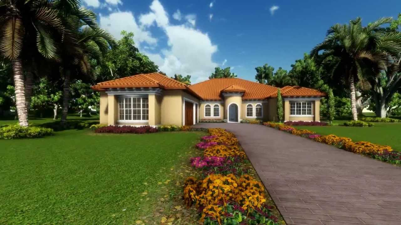 3 500 sq ft mediterranean house 360 rendering sketchup hd youtube