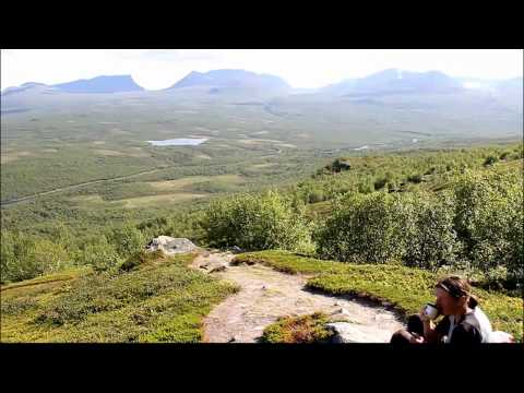 Panoramic view over parts of Abisko Nationalpark