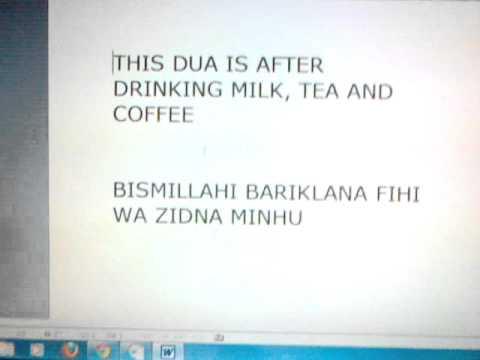 Drinking Milk Dua