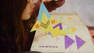 [한국어 ASMR] 종이접기 작품들 속삭이면서 소개하기 Origami Show and Tell