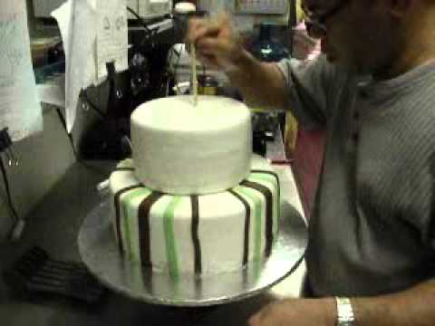 How To Make Two Tier Fondant Cake Youtube