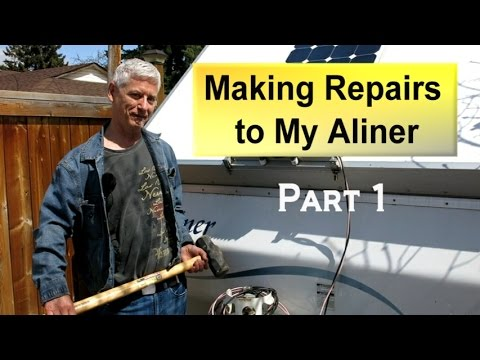 Repairing My Aliner Trailer Part 1 - Assessing the Damage