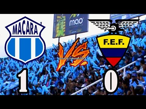 Macará 1-selec. Ecuador 0 (gol de Ángel  Escobar)