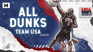 Vince Carter ALL DUNKS From Team USA! (2000 & 2003)