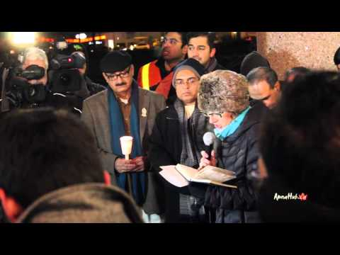 Multi faith vigil at Pakistan Consulate Toronto