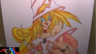 Dibujando a: Maga Obscura (Yu-Gi-Oh!)
