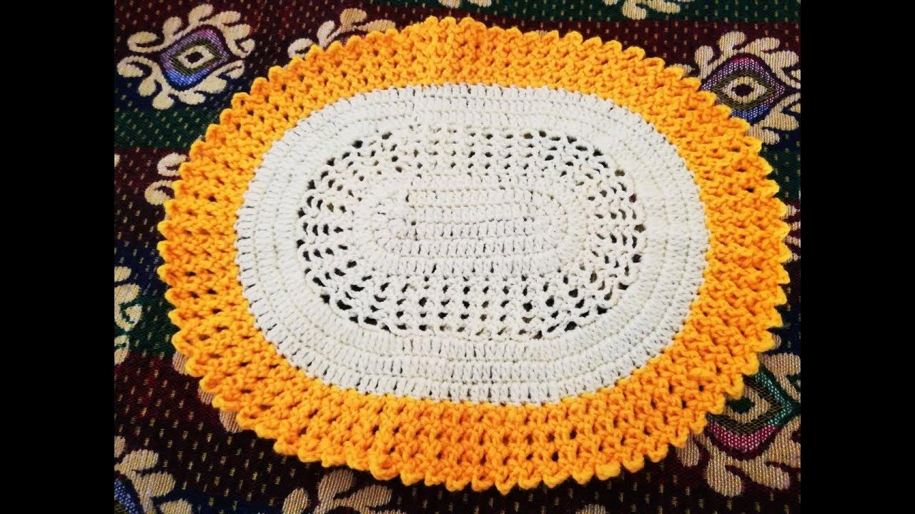 Oval Crochet Placemat Oval Crochet Pattern Oval Crochet Doily Oval