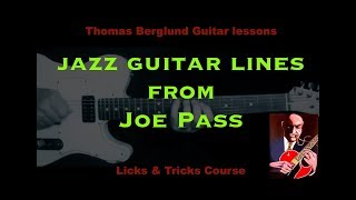 Jazz guitar lines from Joe Pass with Analysis - Jazz Guitar lesson