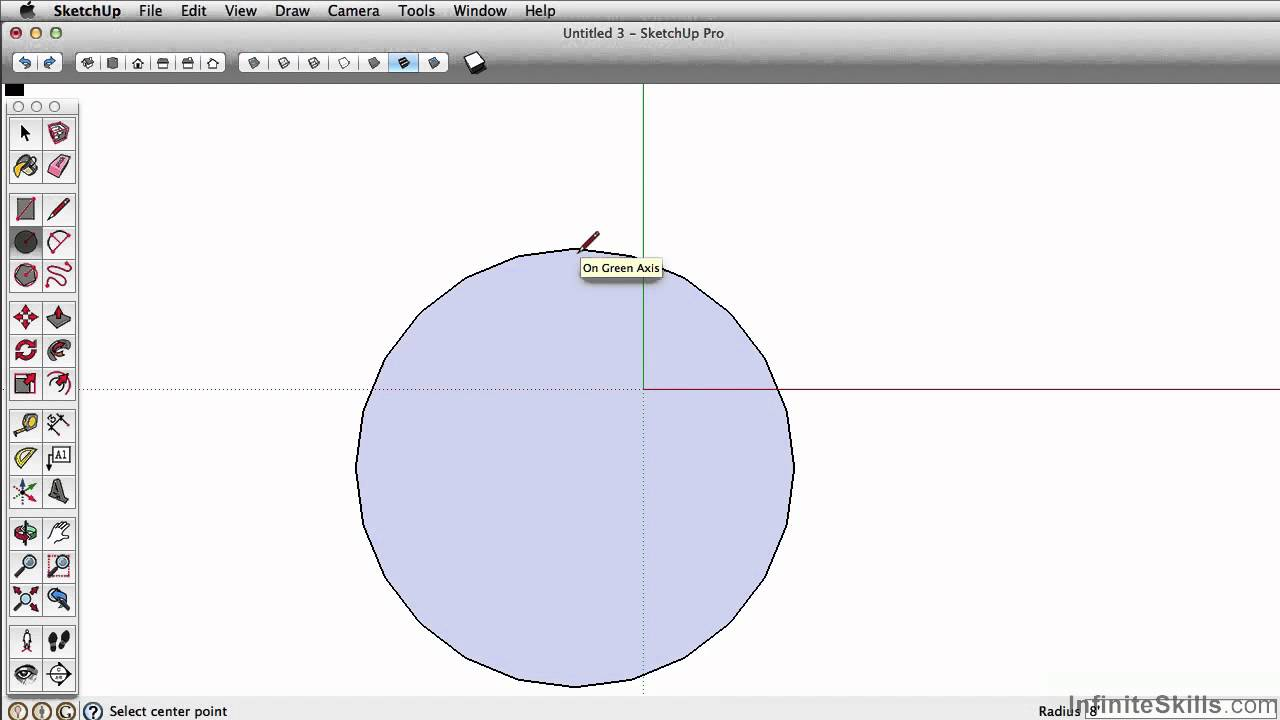 SketchUp Pro 2014 Tutorial | Circle Tool - YouTube