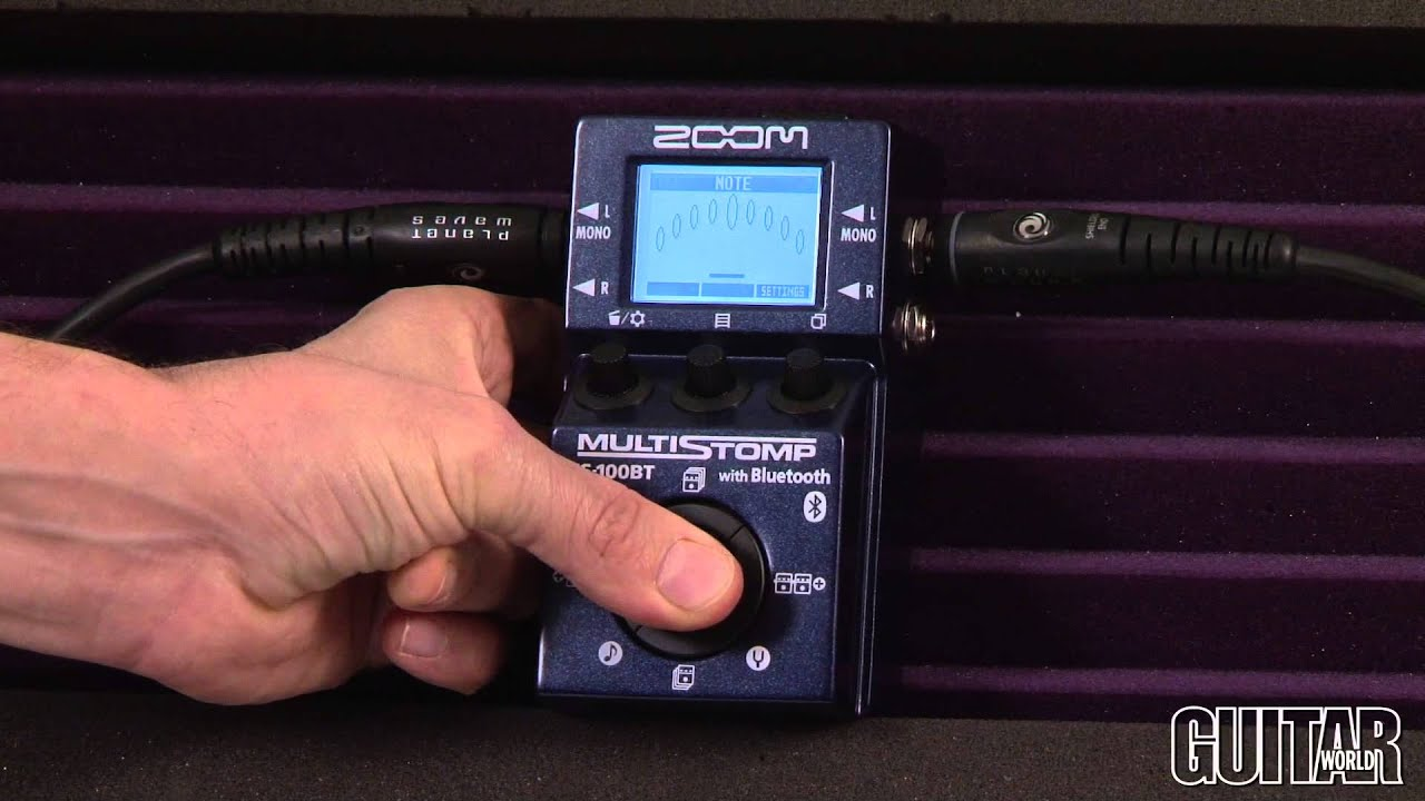 Zoom MS-100BT Multistomp Pedal with Bluetooth