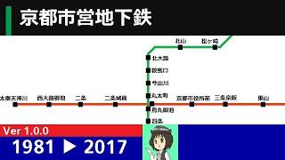 京都市営地下鉄 路線延伸の記録