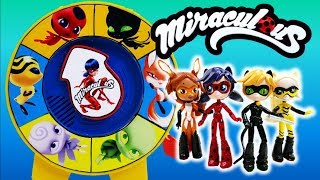 Wheel of Kwami Game with Miraculous Ladybug Tikki Plagg Trix Pollen