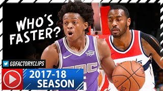 John Wall vs Rookie De'Aaron Fox SPEED Duel Highlights (2017.11.13) Wizards vs Kings - SICK!
