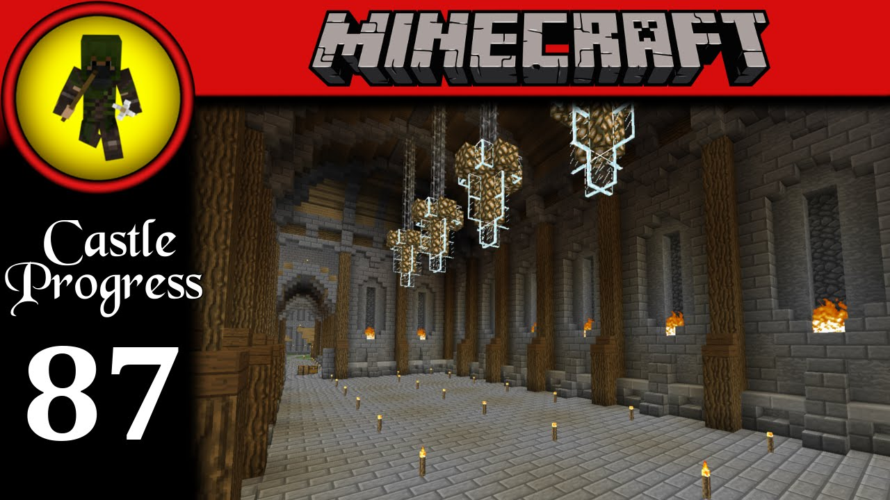 Minecraft Castle Progress - Ep 87 - Dining Hall - YouTube