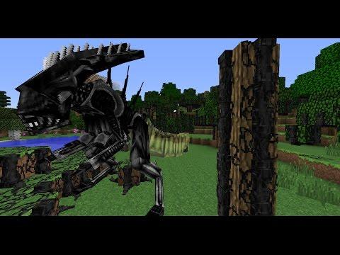 Minecraft AVP Mod Spotlight - Queen Eggsack & New Hive Resin