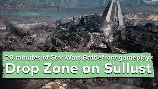20 minutes of new Star Wars Battlefront gameplay - Drop Zone on Sullust (PC 60fps)