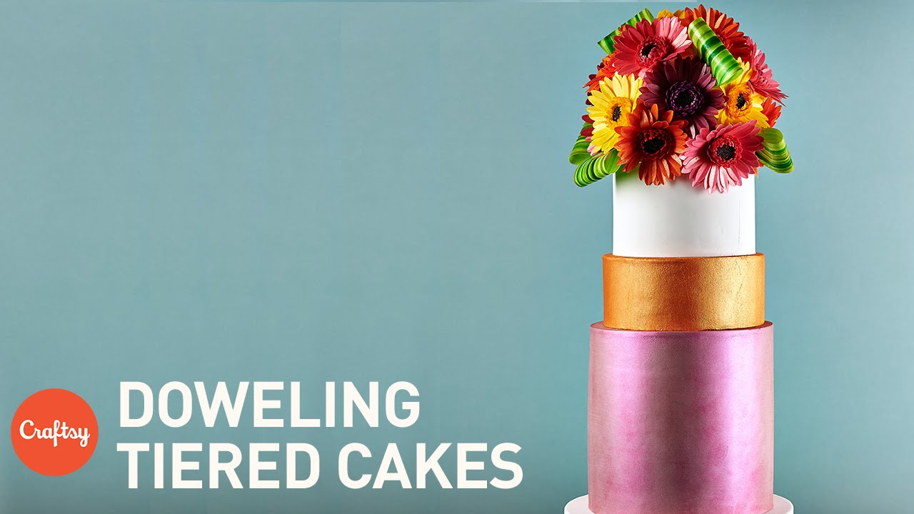 Stacking Doweling A Tiered Cake Professional Cake Decorating Tips From Kara Andretta
