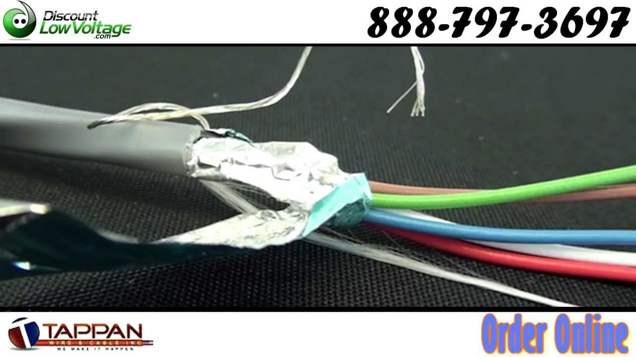 18 awg 6 conductor shielded stranded cable - YouTube
