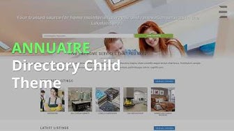 ANNUAIRE is a premium Divi child theme