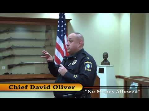 Chief David Oliver of the Brimfield Police Department