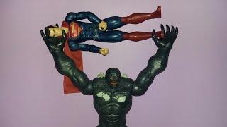 SUPERMAN X APOCALIPSE BONECOS NOVOS (SUPERMAN VS DOOMSDAY)