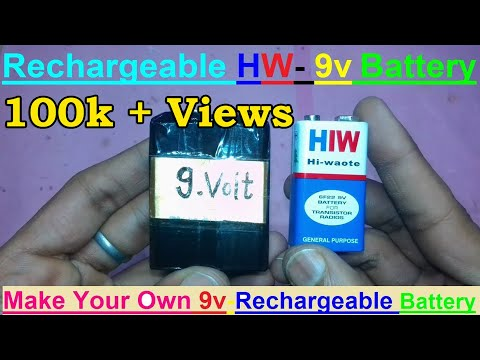 How to Make 9v Rechargeable Battery