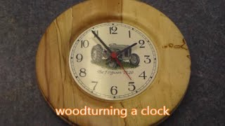 Woodturning A Clock