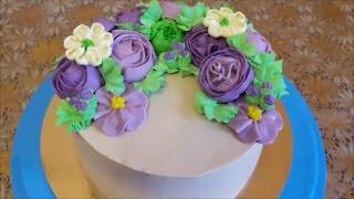 Торт в МАЛАЗИЙСЬКОМ стиле РЕЦЕПТ масляного крема Cake decoration