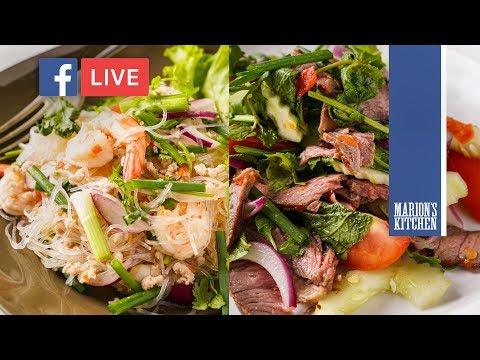 Thai Beef Salad & Thai Glass Noodle Salad (Yum Woon Sen) - Marion's Kitchen