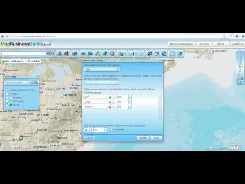 Map Business Online Video Demonstration on Color Coding Data Points
