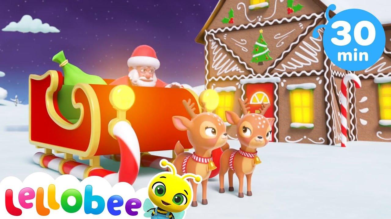 Santa's Christmas Sleigh Songs | Christmas Songs for Kids | Little Baby Bum | Best Baby Songs 🎅🎄