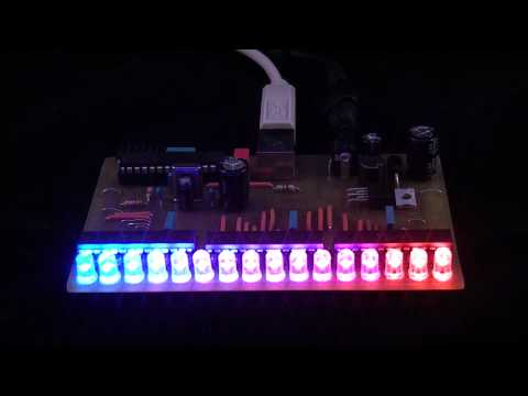 USB RGB LED VU Meter