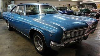1966 Chevrolet Impala 350 V8 Four-speed Start up and Walkaround