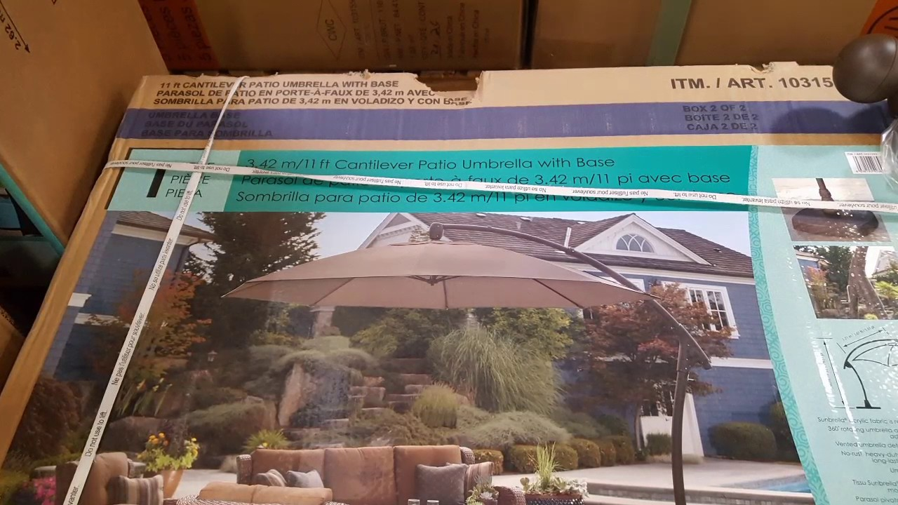 costco proshade 11 ft parasol cantilever umbrella 489 - Costco Patio Umbrella
