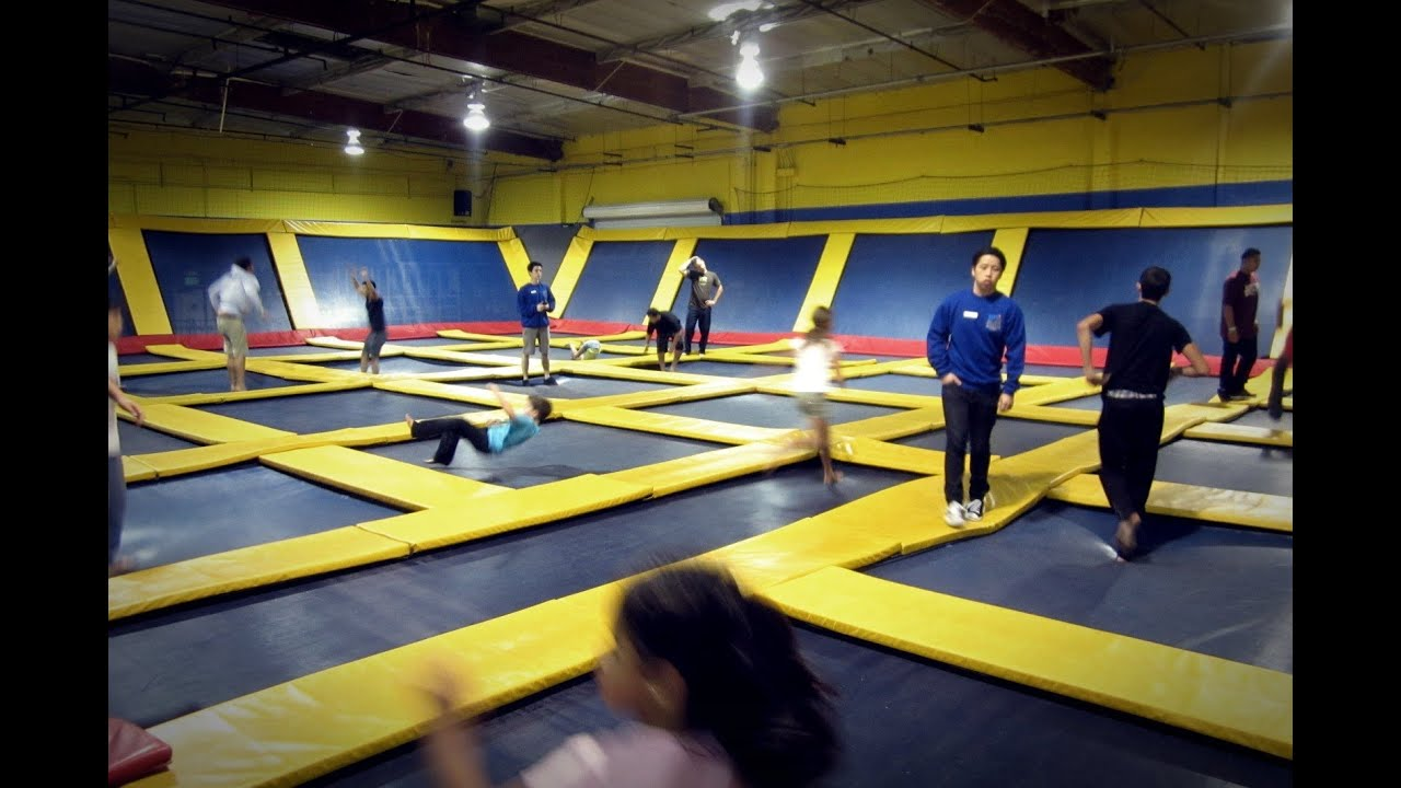 Sky High  The Trampoline Place  Sky Zone  Giant Trampoline  YouTube