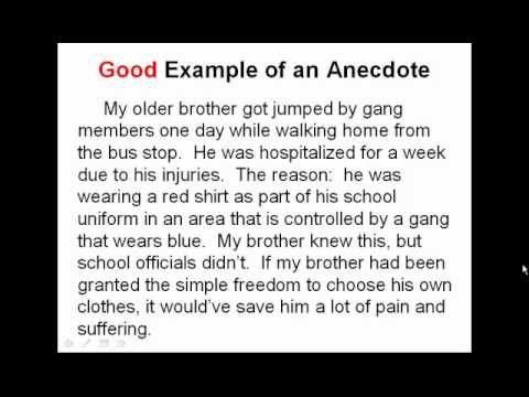 32 best answer very short story that Simple Example of Anecdote