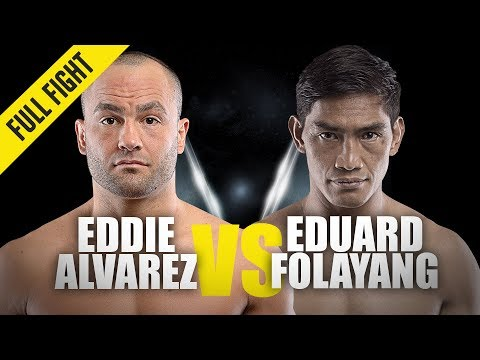Eddie Alvarez vs. Eduard Folayang | ONE Full Fight | Road To Redemption | August 2019