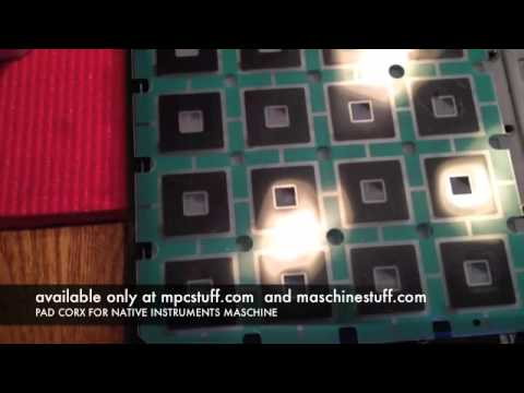 Install NI Maschine Pad Corx Cork Sensitivity Kit - MPCstuff.com