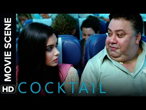 Diana travels to London with an annoying co-passenger | Cocktail | Movie Scene