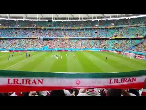 Sights and Sounds in the stands before a World Cup match in Brazil 2014 - Iran Vs. Bosnia